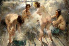 В бане с тазами
